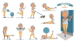 senior-exercise-female-exercising-character-260nw-744161863